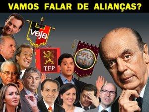Vamos falar de alianças? com Silas  Malafaia Serra e PSDB perde 99% do  apoio  das comunidades evangélicas. Planeta Globo.